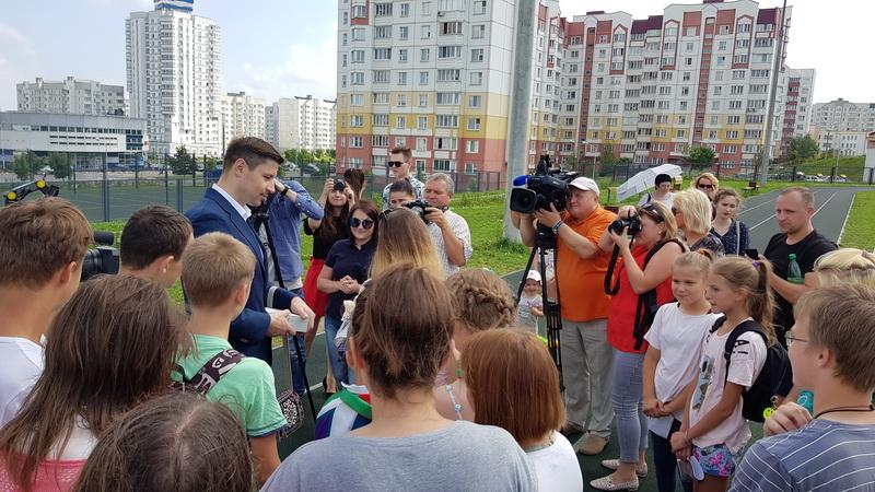 Пресс-конференция со школьниками Фрунзенского района